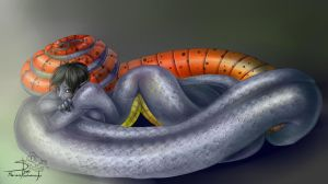 Ring necked snake by Shivik