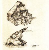 two houses by floopate