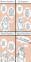 How Thedas Reacts to the Inquisitor by LivingInsideTheShell