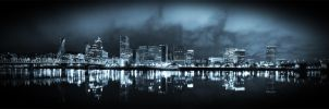 Cold Portland Nights Panorama by metro