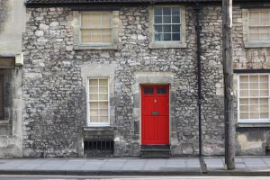 Red door by Aparamita