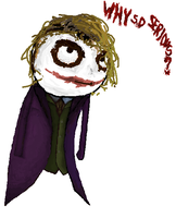 The Joker - MS paint by LilioTheOne