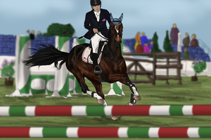 RvS Just a Boy at AEC Grand Prix by RvS-RiverineStables