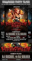 Halloween Party Flyer Template by Hotpindesigns