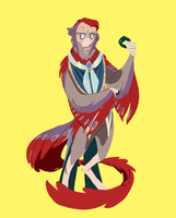 AT: Jin- The Sassy Ol' Birb Dad by Dream-Piper