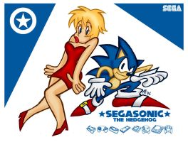 SegaSonic and Madonna by GagaMan