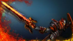 Dragon Knight's Molten Blade by royalshark