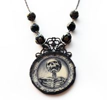 Memento Mori Soldered Glass Necklace by asunder