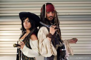 Jack Sparrow and Angelica by CaptainDepp