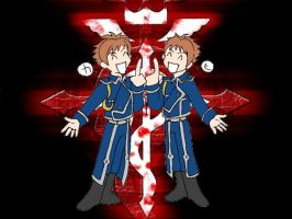 Full Metal Hitachiin Twins by Axe-Girl