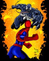 Venom and Spidey Colored by RCarter