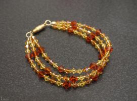 Fire Crystal Bracelet by Rhiallom