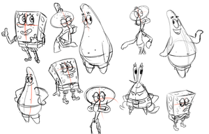 Spongebob Sketches by BagToon