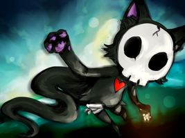 skull kitten by Mr-Hatta