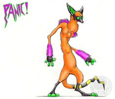 Panic Hound by CuriousCreatures