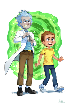 Rick and Morty by Skeleion