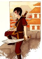 Zuko - Sword and City by AliWildgoose
