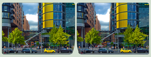 Berlin Potsdamer Platz II ::: HDR Cross-View 3D by zour