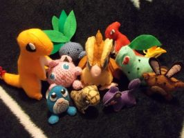 Pokemon Plushies by NerdLass