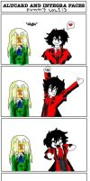 Alucard and Integra funnyfaces by teagirl666