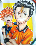 nishinoya and hinata by stylable