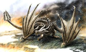 Skyrim Dragon by A3Raziel