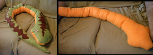Snake Plushie Pillow by dragontrap