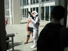 Posing with a Stormtrooper by steveclaus