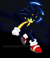 Dark Sonic The Hedgehog by TheSnowDrifter