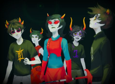 Homestuck Page Redraw: End of Act 5 by The-Ghost-Writer