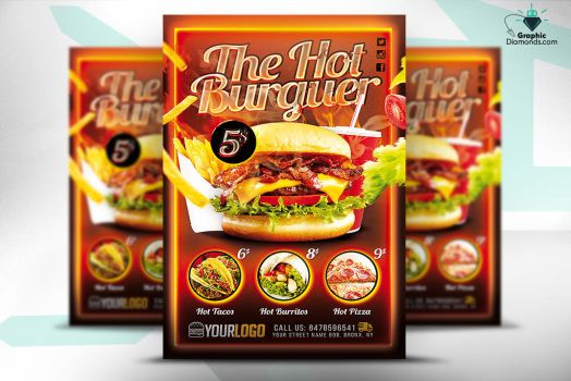 Fast Food Promotion Flyer PSD by GraphicDiamonds