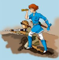 Nausicaa and Asbel by cyen