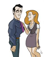 Clark and lois by Kryptoniano