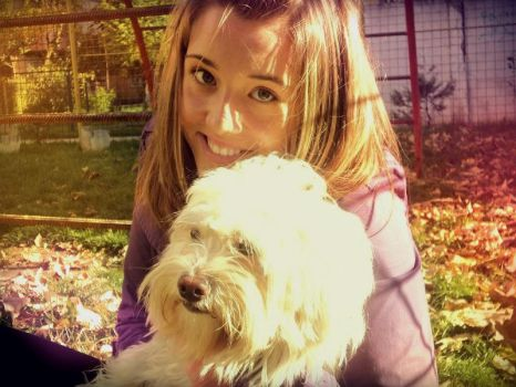 Paty and her dog by Lore-G