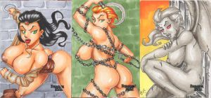 Dungeon Dolls Preview Cards by Artassassin
