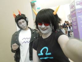 Cronus and Terezi taking selfies by Fatel-Reunion