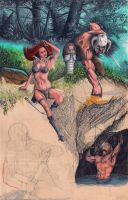 Conan and Red Sonya by marcgosselin