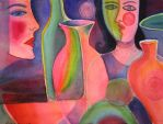 Ladies and Vases by karincharlotte