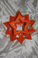 Origami Star Dodecahedron by Kusu-dama