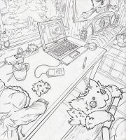 Joltik in three point perspective by Pokeaday