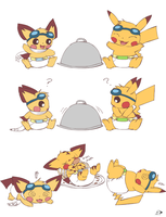 Sparks' Thanksgiving Surprise by pichu90