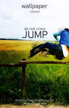 do not cross, jump 2008 by antoniopratas