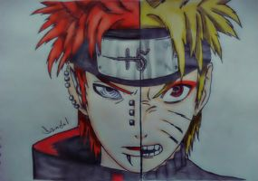 Naruto vs Pain by DandnlHardy
