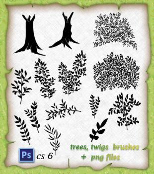 Trees,and  Twigs  Brushes by roula33