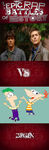Epic rap: winchester vs Phineas and Ferb. by shinymewtwovsjason