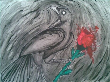 Ravens and roses by Axawatta3