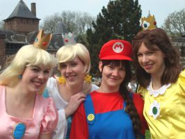 Mario and Princesses take two by SsBrownie