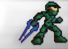 Halo - Master Chief Bead Sprite by Hideyoshi27