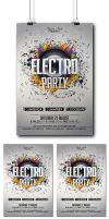 Electro Party Flyer by Mariux10