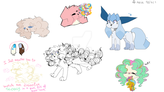 MS paint doodles by MoonlightInk1
